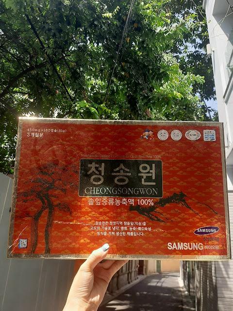 Viên tinh dầu thông đỏ Hàn Quốc Cheongsongwon hộp đỏ SamSung Hàn Quốc