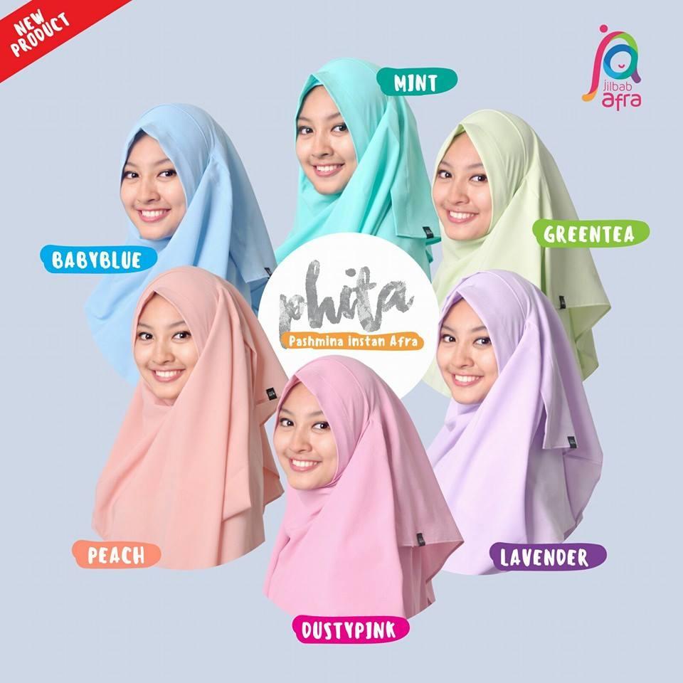 Jilbab Afra Instan - www.MyPearlCollection.com
