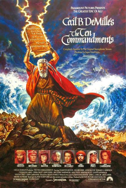 Portada película Los diez mandamientos