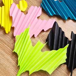 How to make paper folding accordion Halloween decorations in differant shapes