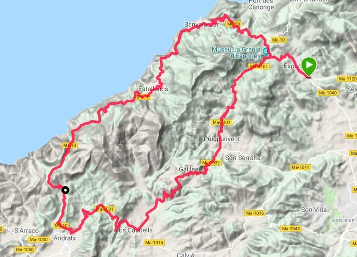 Giro in bici a Maiorca, 4 ottobre 2019