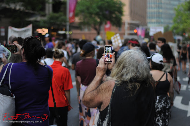 Sydney Climate Rally - Mr S. Morie? Have not seen him for years! Did not get to speak.