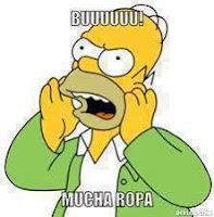 """""""Homero Simpson"""" buu mucha ropa"""