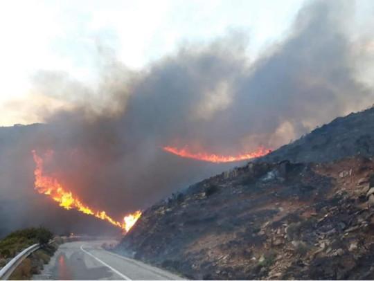 Πυρκαγιά στην περιοχή των Ρεμάτων