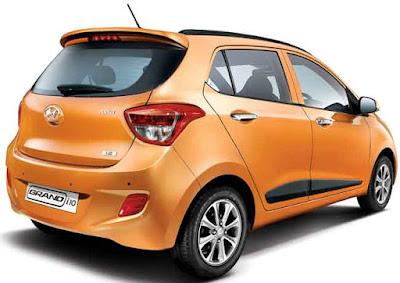 Hyundai Grand i10 orange colour