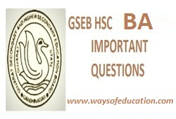 GSEB STD 12 COMMERCE BA IMP QUESTION FOR MARCH 2020 EXAM