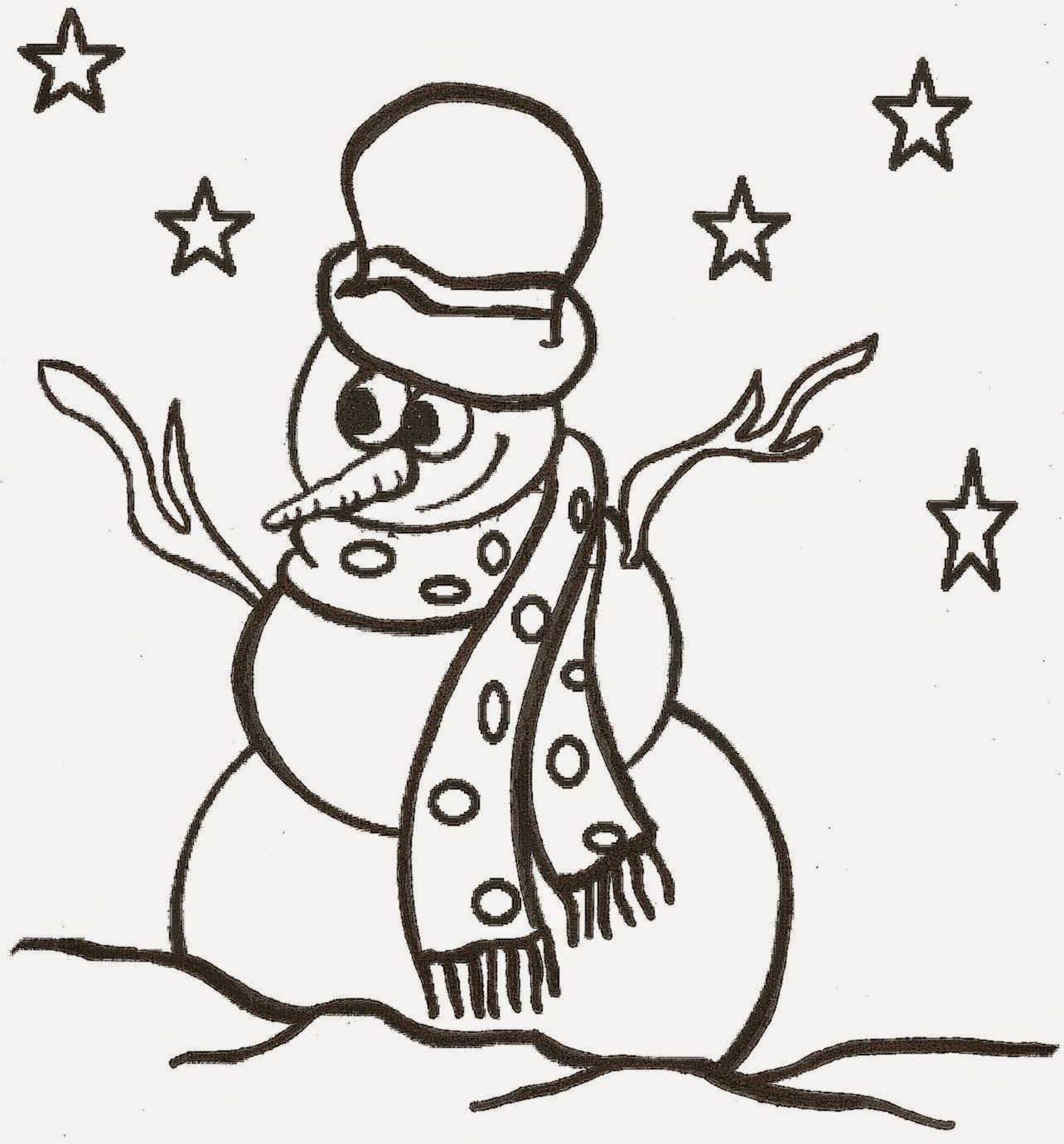 Snowman pictures to color free coloring pictures for Snowman color page
