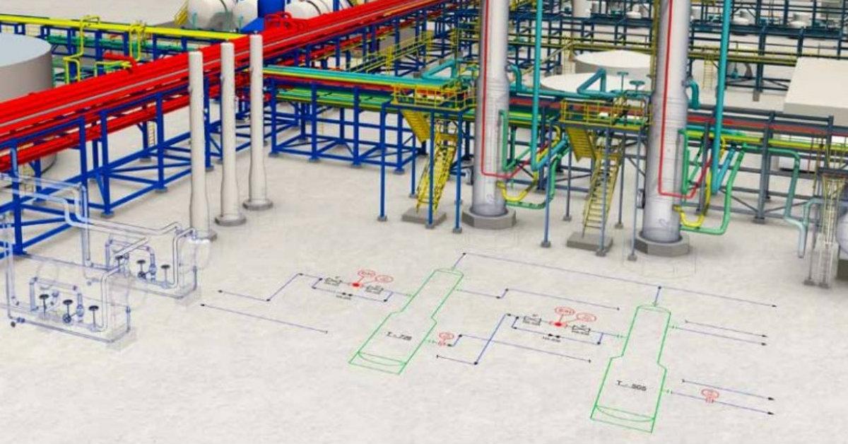 Diagramas inteligentes de procesos, tuberías e instrumentación con ...