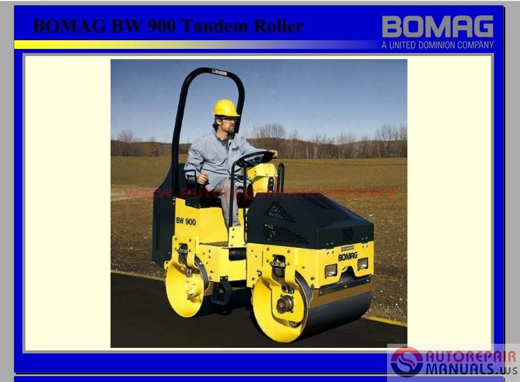 Bomag Full Set Service Manuals Service Trainning on Bomag Roller Parts Diagram