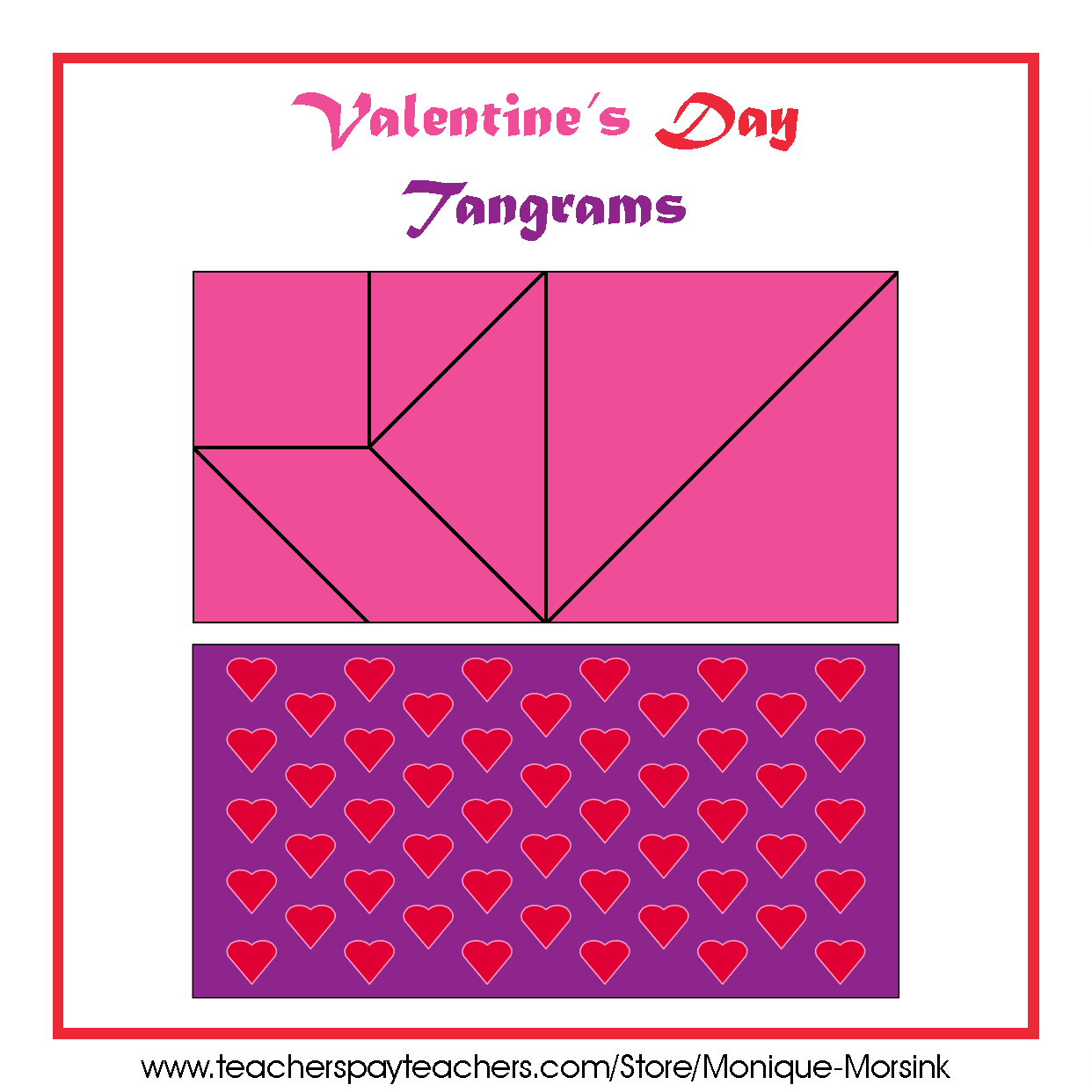 Colorful Tangrams Valentine S Day