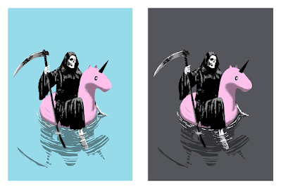Reaper Float Screen Print by Ubik x Bottleneck Gallery