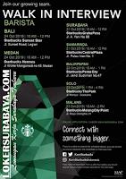 Walk In Interview at Starbucks Graha Pena Surabaya October 2019