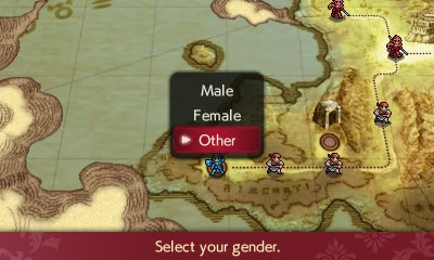 Fire Emblem Echoes Shadows of Valencia select your gender male female other