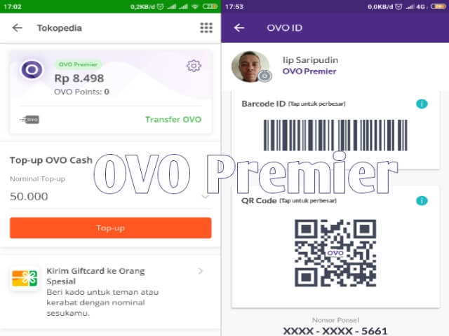 OVO Premier di tokopedia dan Aplikasi OVO