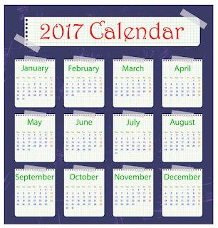 2017カレンダー無料テンプレート7
