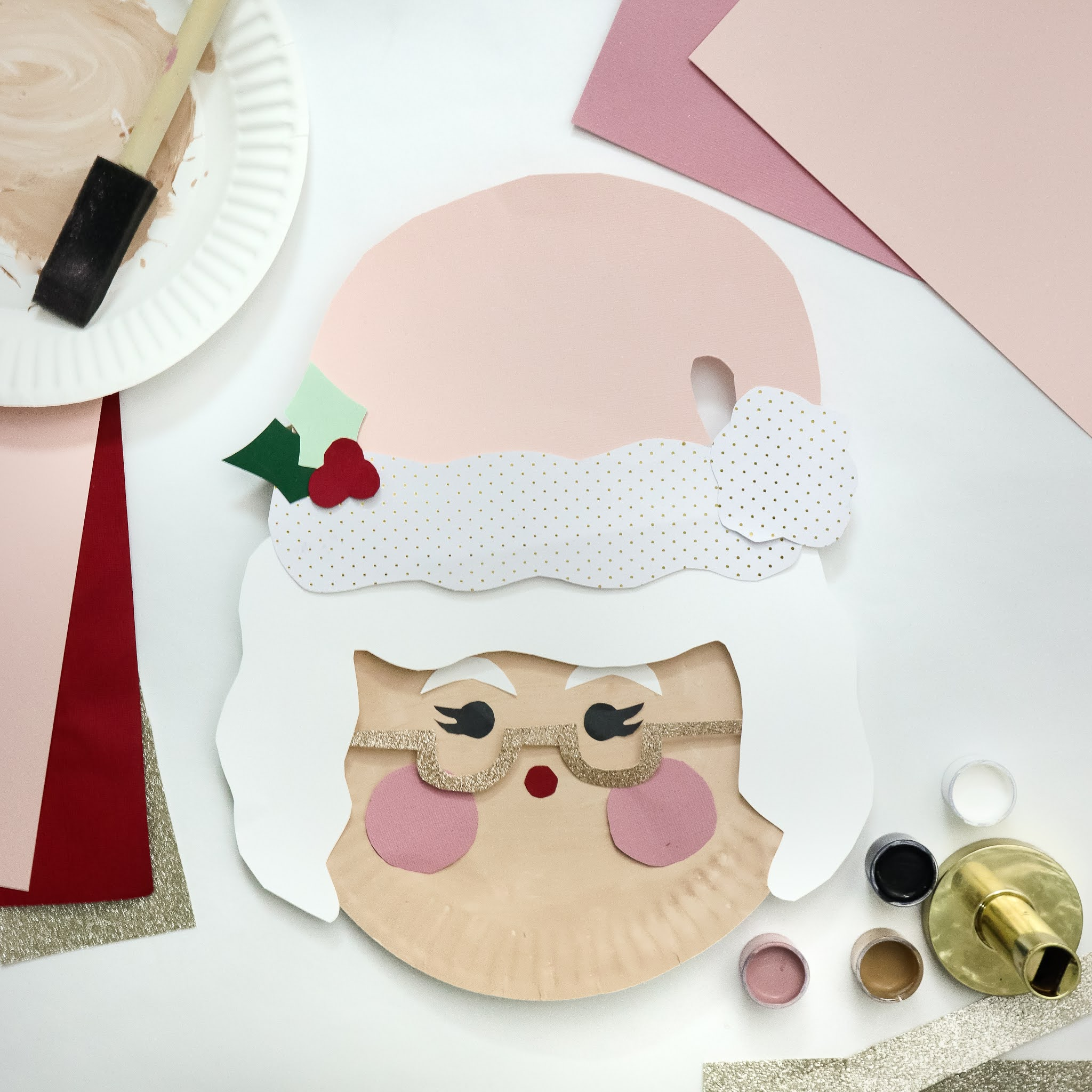 Christmas paper plate craft