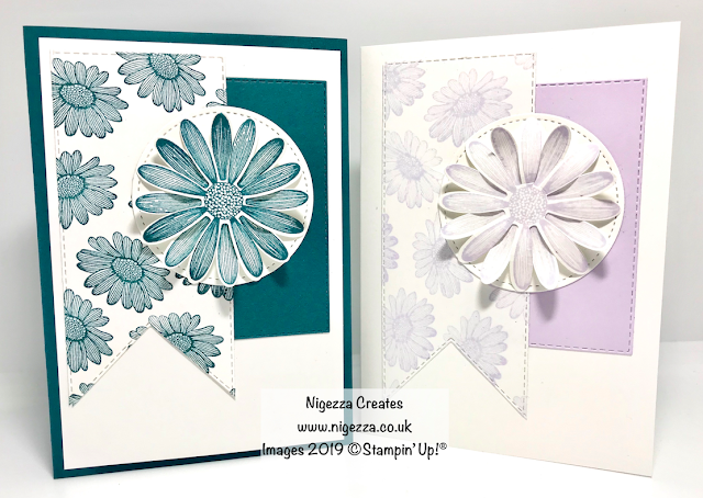 Nigezza Creates, Stampin' Up! Daisy Lane card, InspireINK Blog Hop