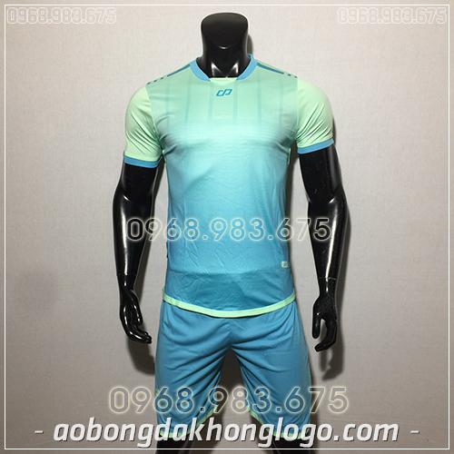 Áo bóng đá ko logo CP Combat màu xanh ngọc