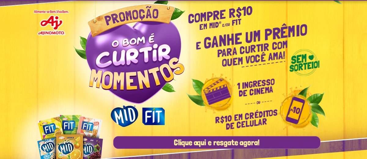Mid e Fit Nova Promoção Oferece Crédito Celular ou Ingresso Cinema