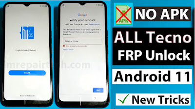 Tecno FRP Bypass Android 11 App Not installed
