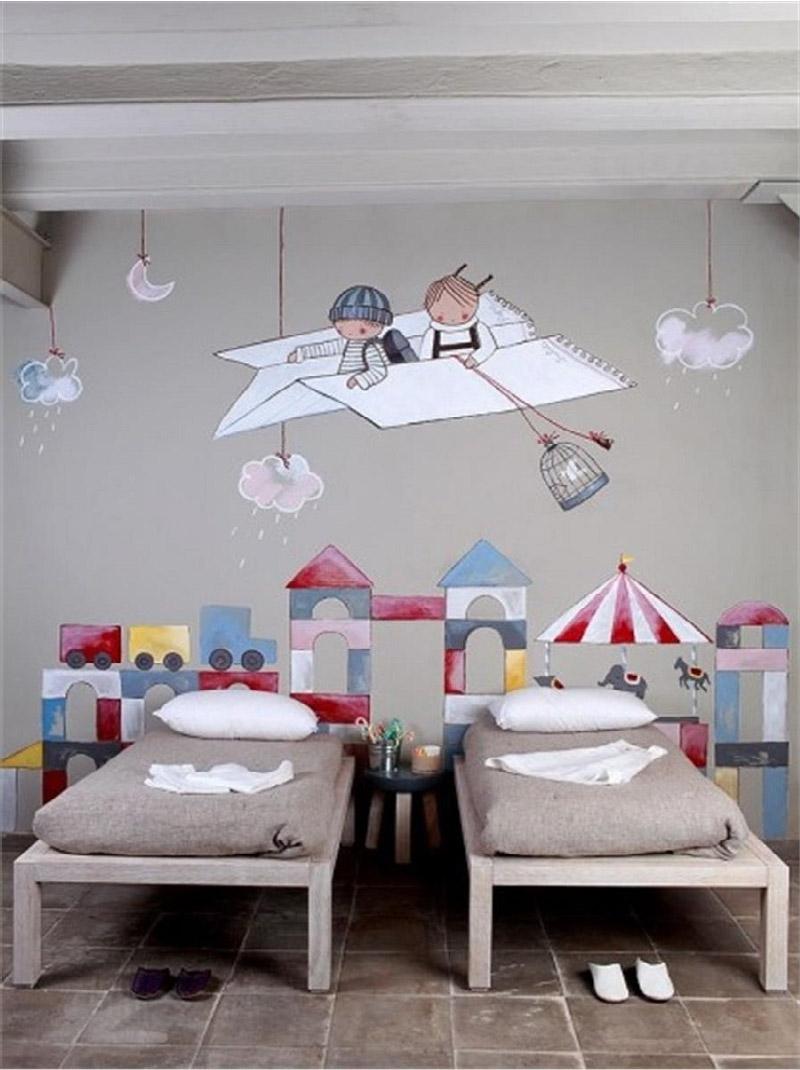 Idee Pittura Cameretta Bambina idee decor per una cameretta all'insegna della fantasia