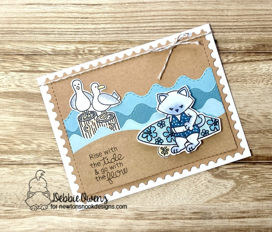 Ride with the tide by Debbie features Newton's Perfect Wave, Framework, Gull Friends, and Sea Borders by Newton's Nook Designs; #newtonsnook