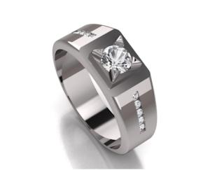Cincin Single Silver Lapis Rhodium RK-76 Male Bergaransi - CINCIN AKIK PRIA