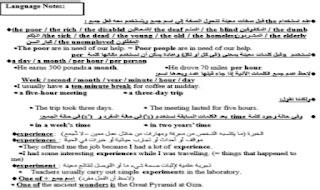 مذكرة انجليزي الصف الثالث الثانوى- مستر عصام وهبه من موقع درس انجليزي