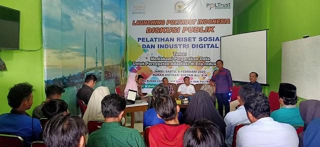 Lembaga Survei Poltrust Indonesia Launching di Jambi
