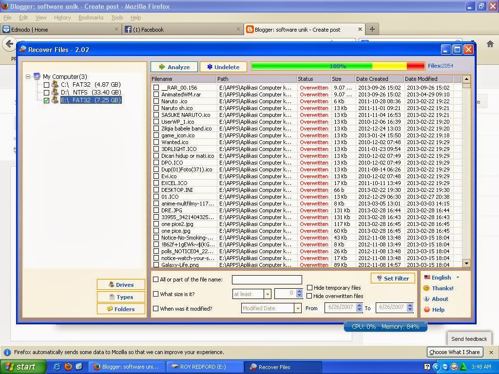 Recover xls file from tmp