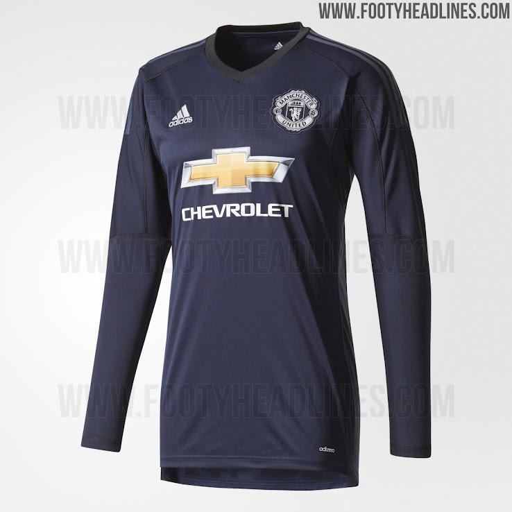 5668c9f5c1e Manchester United 17-18 Goalkeeper Home Kit Released - Footy ...