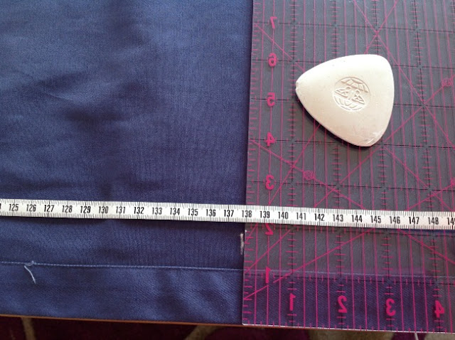 Mark the measurement on the fabric