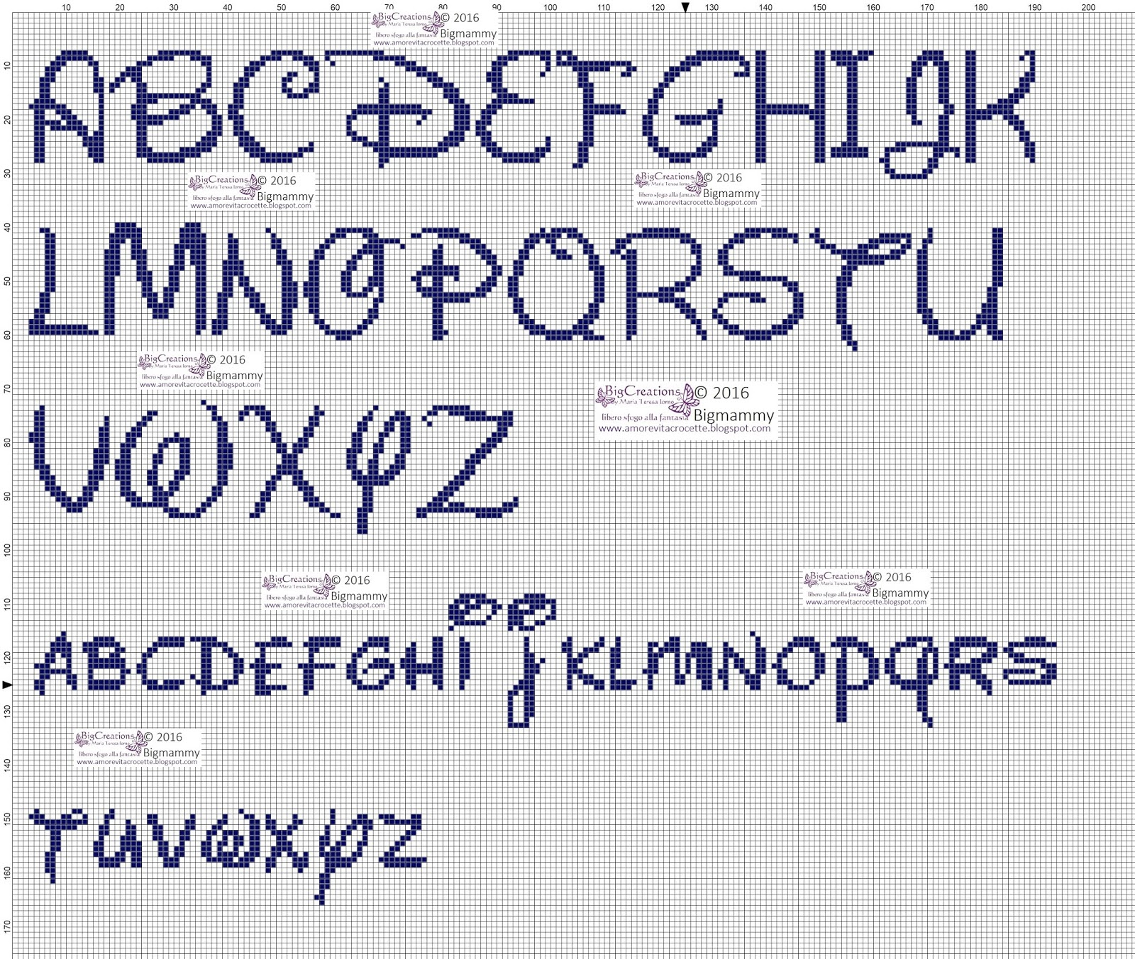 Amorevitacrocette alfabeti disney a punto croce for Ricamo punto croce lettere