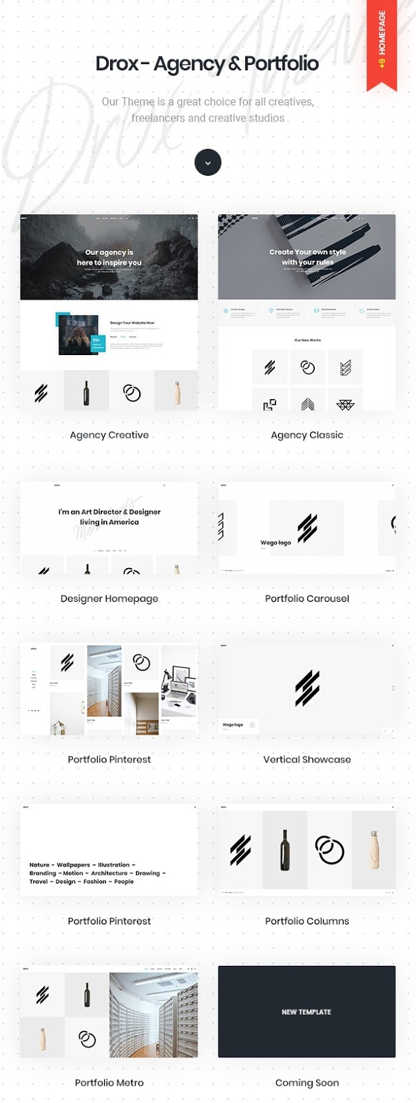 Agency & Portfolio WordPress Template