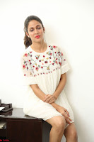 Lavanya Tripathi in Summer Style Spicy Short White Dress at her Interview  Exclusive 128.JPG
