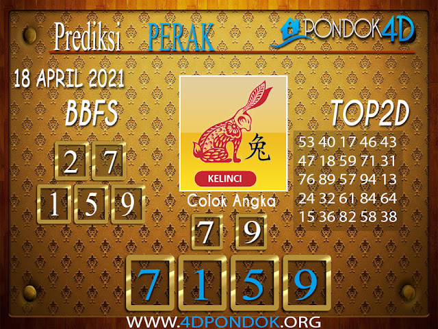 Prediksi Togel PERAK PONDOK4D 18 APRIL 2021