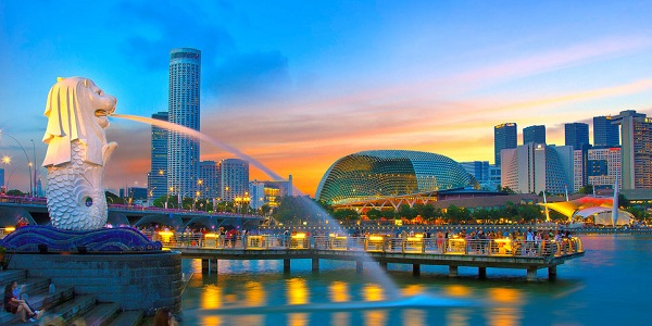 Biểu tượng Singapore tại vịnh Marina