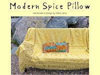 Modern Spice Pillow designed by Minaz Jantz