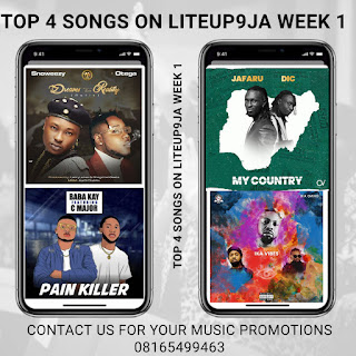 Top 4 Songs On Liteup9ja Week 1