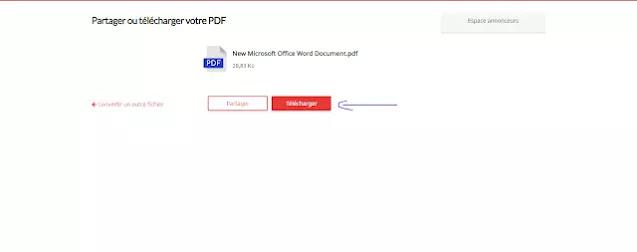 تحويل Word الي ملف PDF