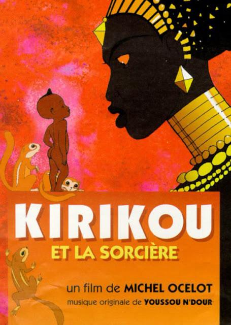 Cartel de la película de animación Kiriku y la bruja, Kirikou et la sorciere