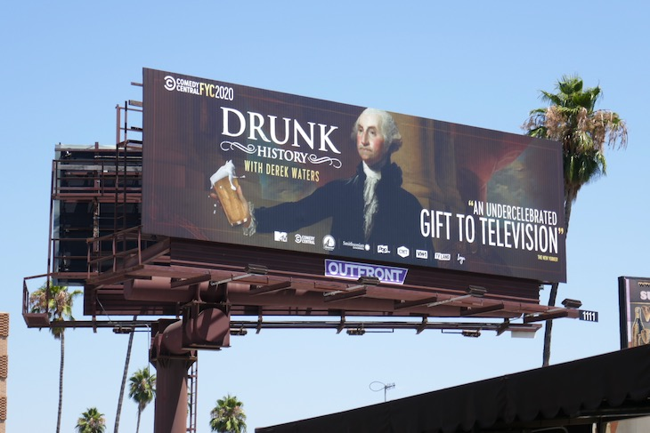 Drunk History 2020 Emmy FYC billboard