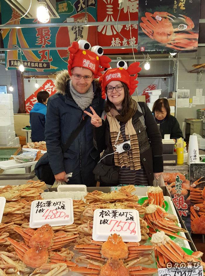 portrait Céci et Olivier chapeau de crabe
