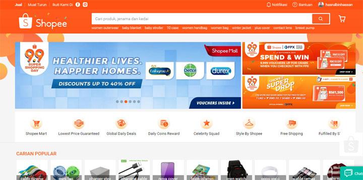 Sebab Pilih Shopee Untuk Bina Kedai Online Sendiri
