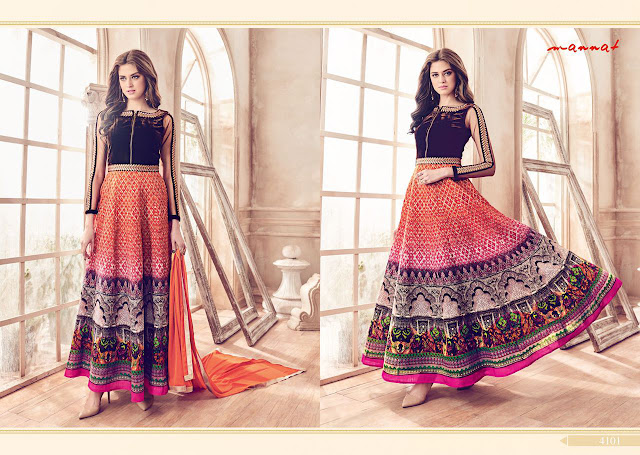 Orange Color Designer Party Wear Anarkali Salwar Suit Online Shopping