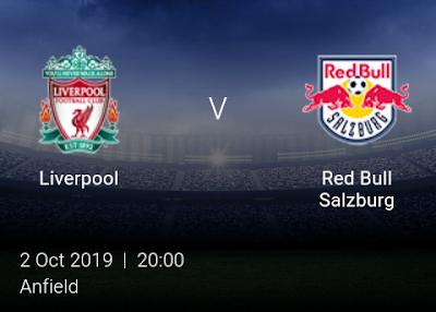 LIVE MATCH: Liverpool Vs Red Bull Salzburg UEFA Champions League 02/10/2019