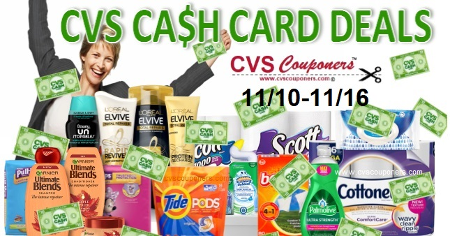 CVS $10 Cash Card Coupon Deals 1110-1116