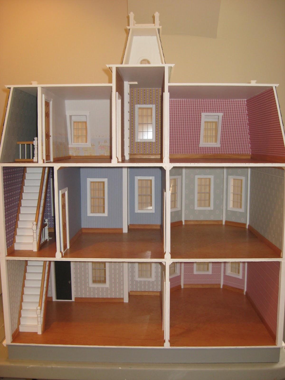 Little Darlings Dollhouses Building The Newport Dollhouse