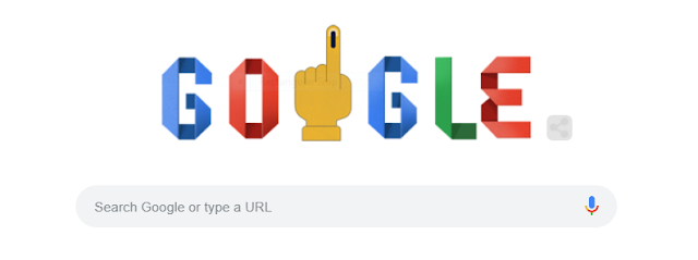 Google Doodle Encouraged Indian People-How to Vote in Lok Sabha Elections 2019