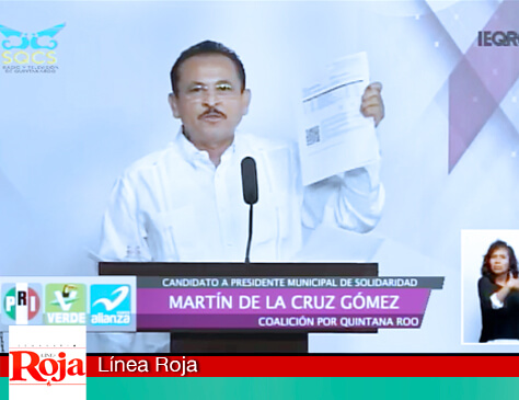 Martín de la Cruz exhibe en debate empresa 'FANTASMA' que cobra en el ayuntamiento de Playa del Carmen (Solidaridad). Exige que se aclare